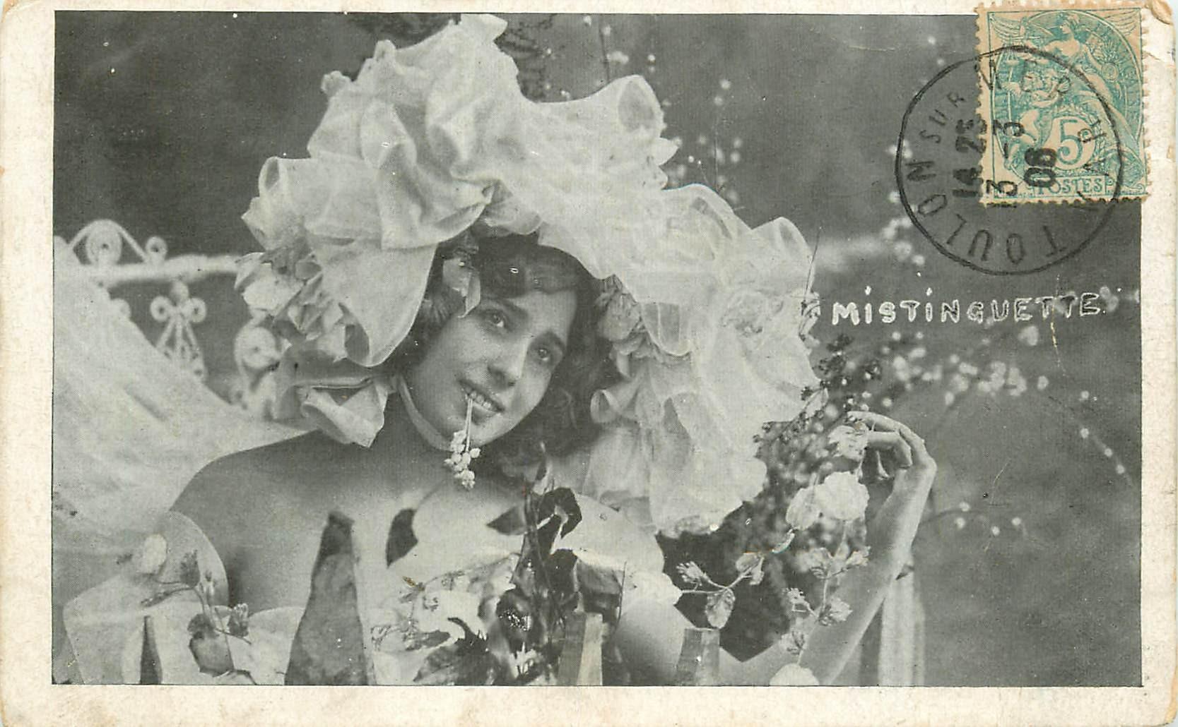 Spectacle artistes. MISTINGUETTE 1906 Chanteuse Cabaret