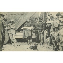 14 SAINT-AUBIN-SUR-MER. Une bonne capture Pêcheurs et marsouin 1910