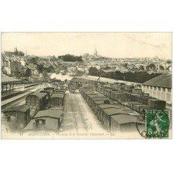 carte postale ancienne 16 ANGOULEME. Gare et dépot de Trains 1913