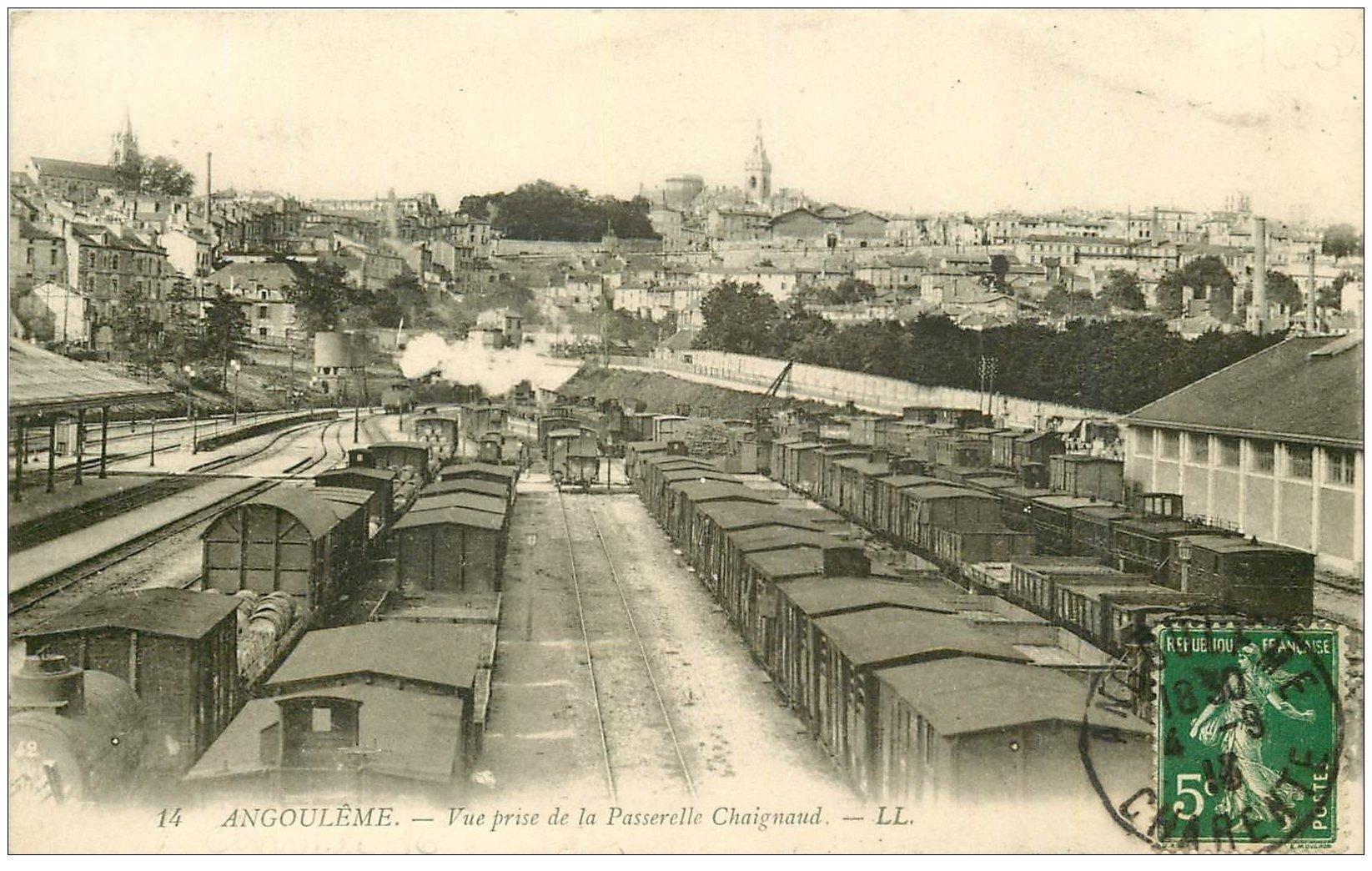 16 angouleme gare et d pot de trains 1913. Black Bedroom Furniture Sets. Home Design Ideas