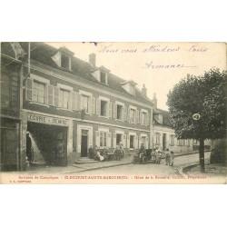 60 ELINCOURT-SAINTE-MARGUERITE. Voiture ancienne devant Hôtel de la Bouteille 1912