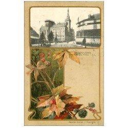 carte postale ancienne 16 ANGOULEME. Hôtel de Ville et la Tricoteuse 1909. Collection Nouvelles Galeries