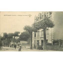 45 MONTARGIS. Collège de Jeunes Filles 1916 tampon militaire