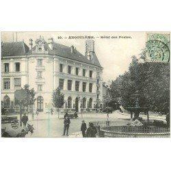 carte postale ancienne 16 ANGOULEME. Hôtel des Postes 1907. P.T.T