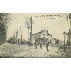 93 LES PAVILLON-SOUS-BOIS. Route Nationale et Avenue des Pavillons 1908