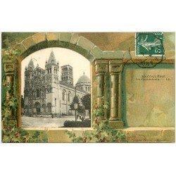 carte postale ancienne 16 ANGOULEME. La Cathédrale 1909. Collection Nouvelles Galeries