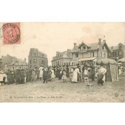 2 x Cpa 14 VILLERS-SUR-MER. Plage jour de fête et Châlet Sanson 1904
