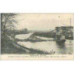carte postale ancienne 02 SOISSONS. Pont de Soissons détruit par le Génie Français
