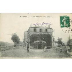 """92 PUTEAUX. Restaurant """" A ma Campagne """" Quai national et rue de Paris"""