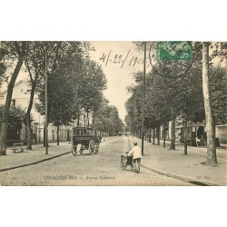 94 CHOISY-LE-ROI. Roulotte, tricycle et attelage avenue Gambetta 1908
