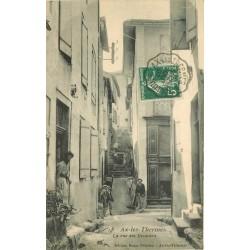 09 AX-LES-THERMES. Rue des Escaliers bien animée 1907