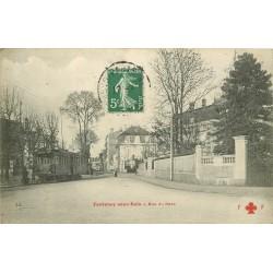94 FONTENAY-SOUS-BOIS. Rue du Parc avec tramway électrique 1908