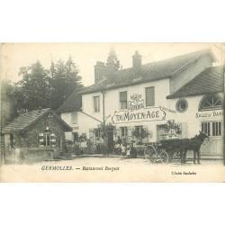 71 GERMOLLES. Restaurant Borgeot attelage devant l'Auberge du Moyen-Age 1917