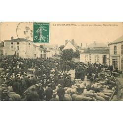85 LA ROCHE-SUR-YON. Marché aux Moutons Place Circulaire 1909