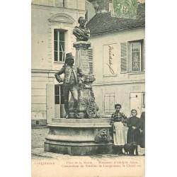 91 LONGJUMEAU. Monument Adam Place de la Mairie 1905