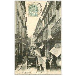 carte postale ancienne 16 ANGOULEME. La Rue des Postes 1908
