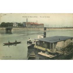 94 CHOISY-LE-ROI. Péniche Lavoir sur la Seine 1908