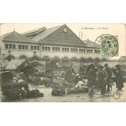 18 BOURGES. Les Halles 1907