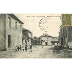 87 MORTEROLLES. Mairie et Route de Paris à Toulouse 1920