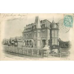 2 x Cpa 14 VILLERS-SUR-MER. Villa Marguerite et la Plage 1904