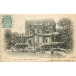 2 x Cpa 14 VILLERS-SUR-MER. Villa Siana avec personnage et Plage à marée montante 1904