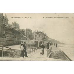 2 x Cpa 14 VILLERS-SUR-MER. Descente à la Plage et Villa Chateaubriant 1904