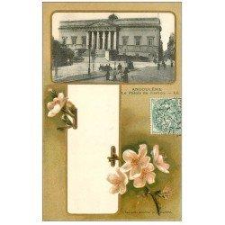 carte postale ancienne 16 ANGOULEME. Le Palais de Justice 1907. Collection Nouvelles Galeries