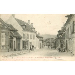 2 x Cpa 60 ELINCOURT-SAINTE-MARGUERITE. Grande Rue 1906 et rue du Rhône avec Calvaire Route Ecouvillon