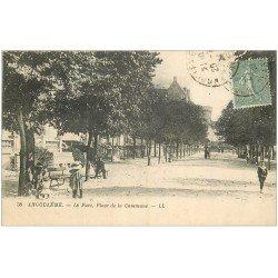 carte postale ancienne 16 ANGOULEME. Le Parc Place de la Commune 1924