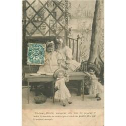 JOUETS. Série de 6 Cpa sur la Dînette des Poupées 1904