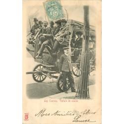 KÜNZLI TRANSPORTS. Voiture de course en hippomobile vers 1904