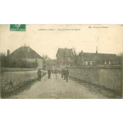 03 LUNEAU. Ecole et Route de Digoin 1912