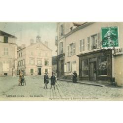 95 LUZARCHES. Mairie et Boulangerie Letang 1908