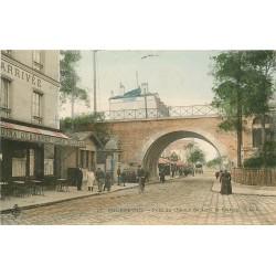 92 COURBEVOIE. Pont du Chemin de Fer et Café de l'Arrivée 1905