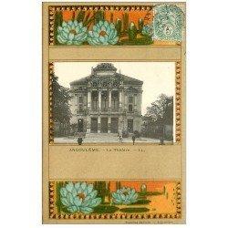 carte postale ancienne 16 ANGOULEME. Le Théâtre 1907. Collection Nouvelles Galeries