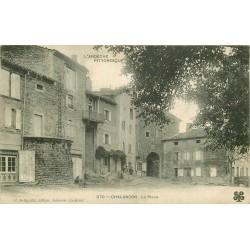 07 CHALANCON. La Place avec Café et Tailleur 1906