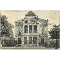 carte postale ancienne 16 ANGOULEME. Le Théâtre et Café. Timbre manquant...