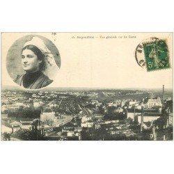 carte postale ancienne 16 ANGOULEME. Les Gares 1912