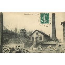 12 CRANSAC. Puits n° 3 & 4 Aciéries de France 1908