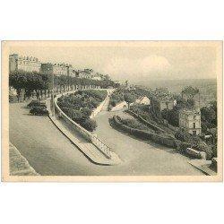 carte postale ancienne 16 ANGOULEME. Les Remparts voitures anciennes