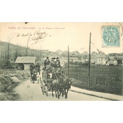 78 VALLEE DE CHEVREUSE. Attelage diligences de Saint-Remy à Chevreuse 1904