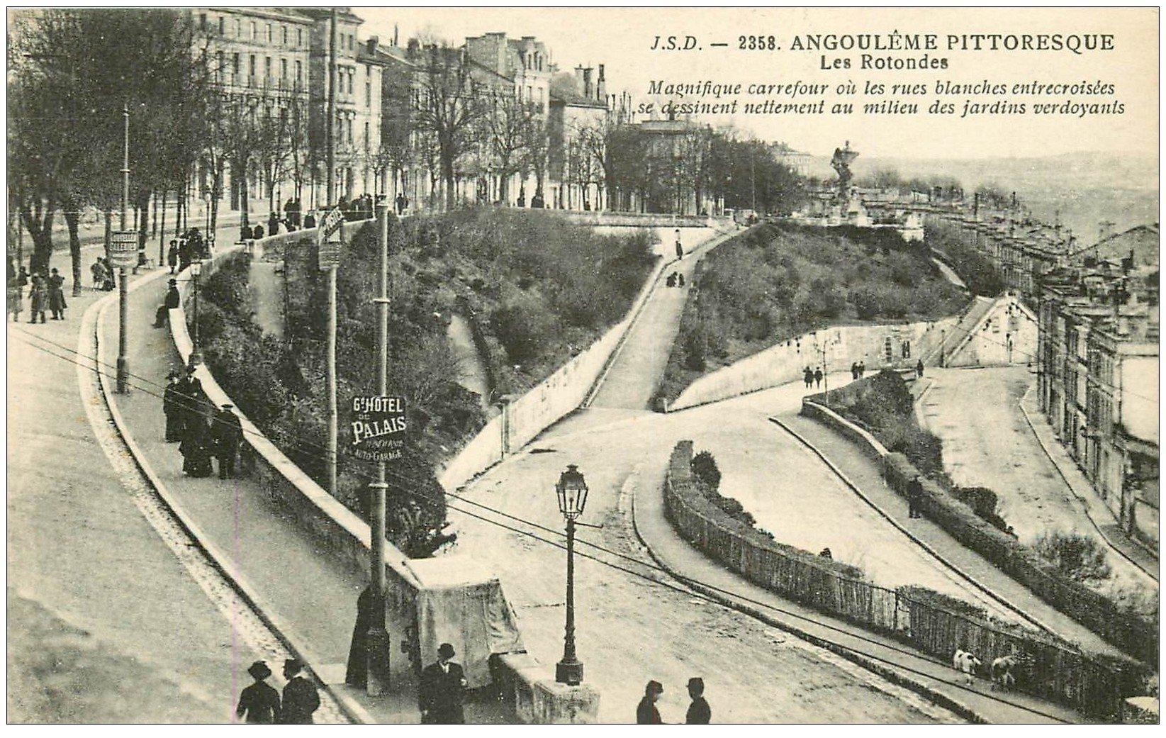 carte postale ancienne 16 ANGOULEME. Les Rotondes