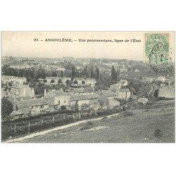 carte postale ancienne 16 ANGOULEME. Ligne Chemin de Fer de l'Etat 1907