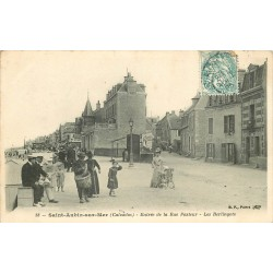 14 SAINT-AUBIN-SUR-MER. Les Berlingots Entrée de la Rue Pasteur 1905