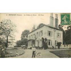 80 BOISMONT. Le Château de Bretel voiture et chien 1912