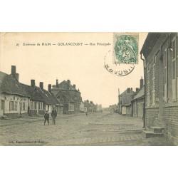 80 GOLANCOURT. Rue Principale vers 1904