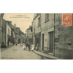 37 SAINTE-MAURE. La Poste et le Tailleur sur le Carrefour rue Auguste-Chevallier 1911