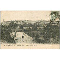carte postale ancienne 16 ANGOULEME. Panorama de Saint-Ausonne vers 1919