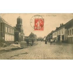 59 BAISIEUX. Eglise sur la Place 1913