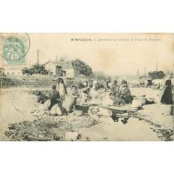 03 MONTLUCON. Laveuses sur le Cher et Usine Saint-Jacques 1906